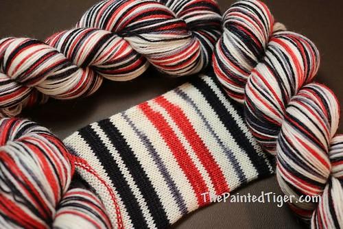 Apple for Teacher Safari Self Striping Sock Yarn August 2019 Subscription Box