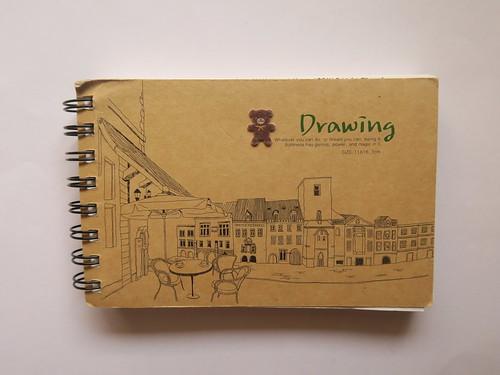 發現一本小畫冊:十一歲的她畫了幾幅畫