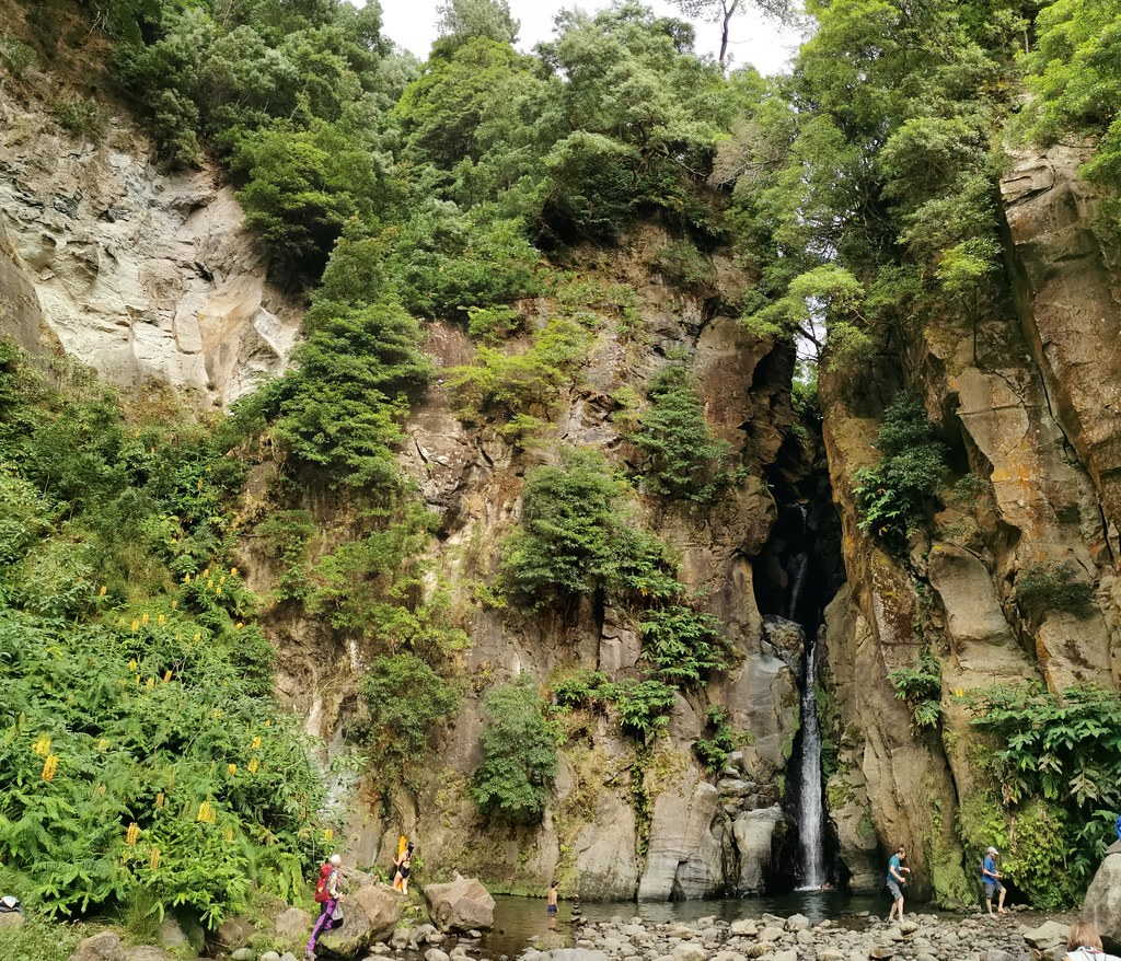 Cascada Salto do Cabrito Isla de San Miguel Azores Portugal 01