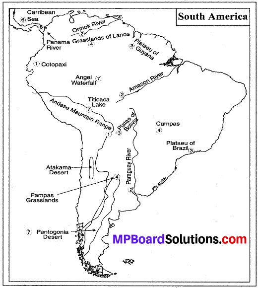 MP Board Class 8th Social Science Solutions Chapter 15 South America-Geographical Features 1