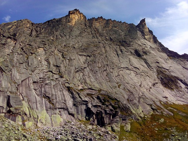 The pointy tooth on the right is Zub Drakona (Dragon's Tooth), the highest point on the ridge by bryandkeith on flickr