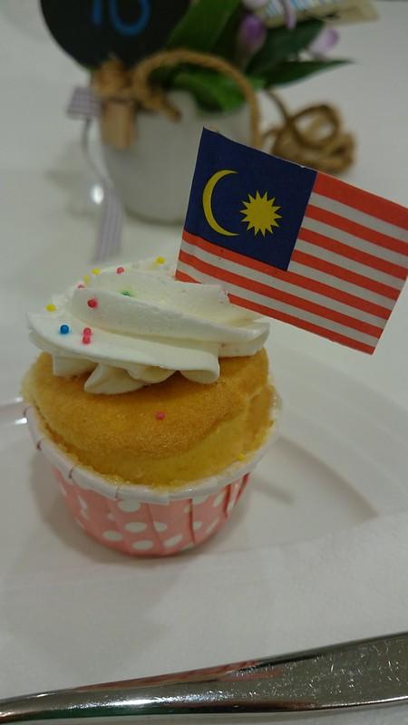 Malaysia flag on cupcake