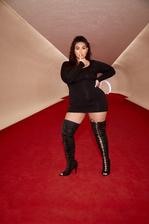 nadia lace up thigh high