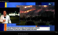 tvn polish Iran - usa - news footage background smoke fire dragon