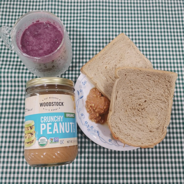 Premium Sourdough Loaf (PhP 105) with Woodstock Organic Peanut Butter and Blueberry Chia Seed Pudding