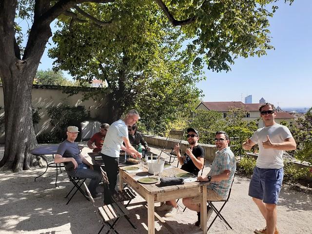 Summer 19 - Blackfire.io team sharing meals