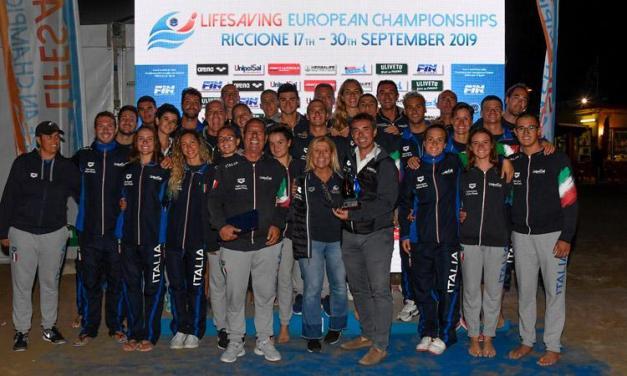 Riccione 2019, Europei Lifesaving | Italia youth campione, open d'argento