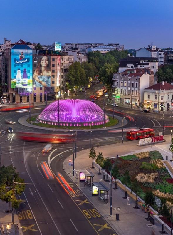 Slavija Square by Night