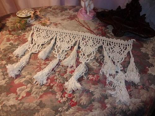 macrame ancien dentelle rideau