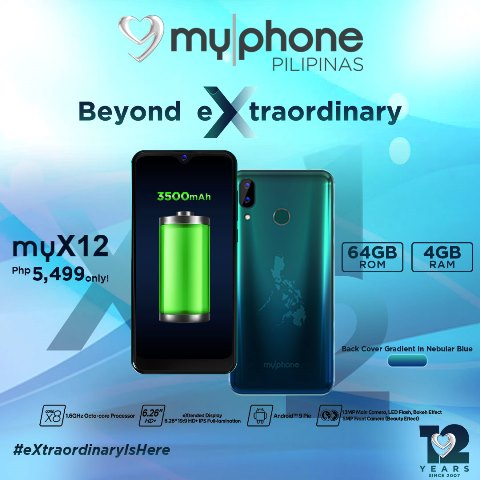 MyPhone myX12 Highlight-Battery-_-Back-Cover