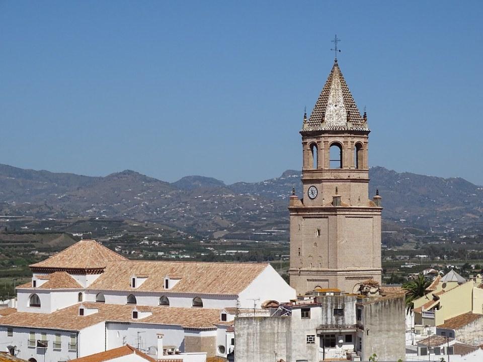 vista Iglesia de San Juan Bautista Velez Malaga Málaga