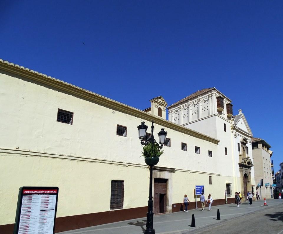 fachada exterior Convento de las Carmelitas Iglesia de Jesus Maria y Jose Velez Malaga Málaga