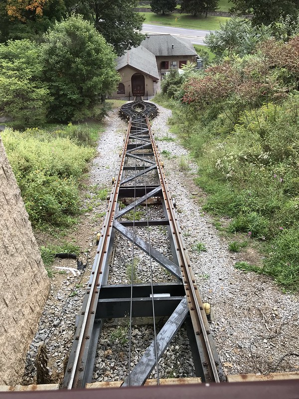 Horseshoe Curve funicular going down