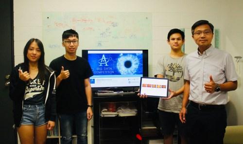 元智大學電機工程系甲組陳敦裕教授帶領研究生施孟宏、吳誌銘、鍾少君(由右至左) (1)