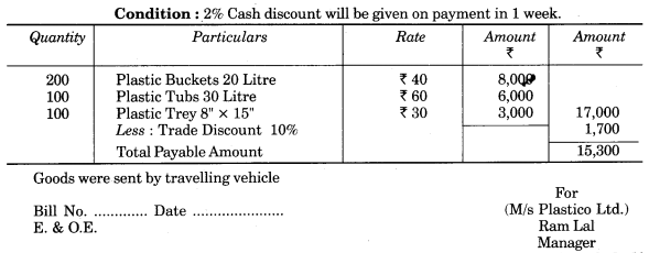 UP Board Solutions for Class 10 Commerce Chapter 10 Invoice, Mercentile Agents and Account Sale Q7