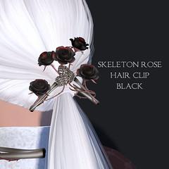 *NAMINOKE*Skeleton Rose Hair Clip