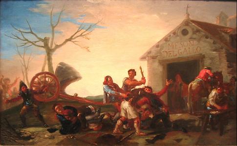 Goya Riña en el Mesón del Gallo