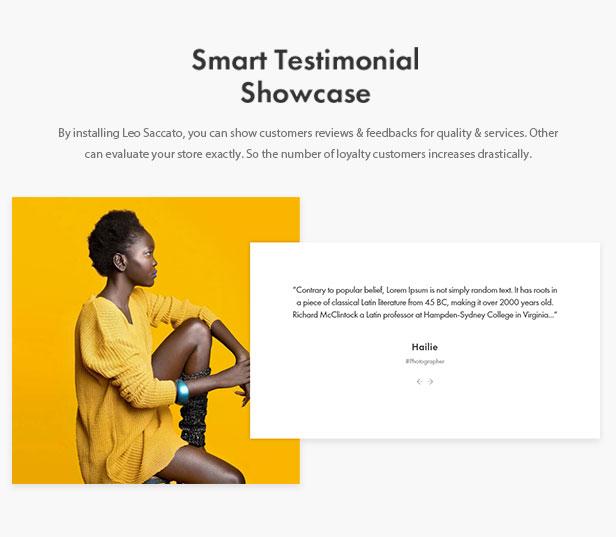 Smart Testimonial Showcase