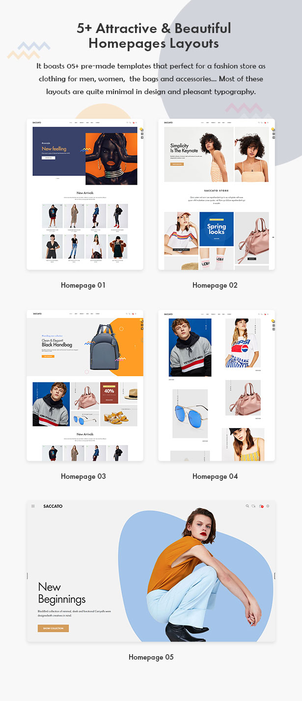 05+ Eye-Catching Homepages Layouts