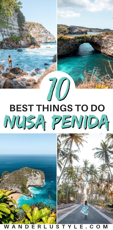 10 Best Things To Do in Nusa Penida Bali in 3 days - crystal bay beach, kelingking beach, broken beach, angel's billabong, tembeling natural beach, tembeling beach, peguyangan waterfall, banah cliff point, diamond beach, rumah pohon treehouse, bungalow, nusa penida travel guide, nusa penida guide, nusa penida bali, things to do in nusa penida, nusa penida itinerary, what to do in nusa penida, nusa penida tips, nusa penida travel tips, bali travel