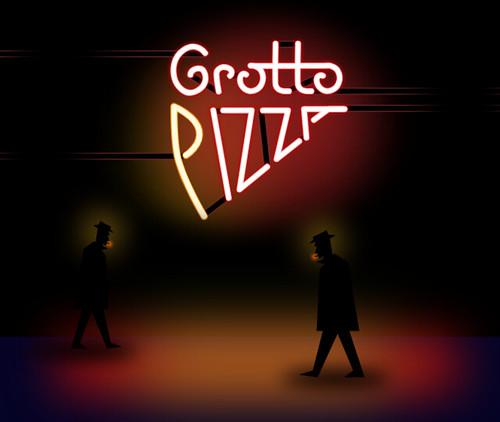 Grottos pizza illustration