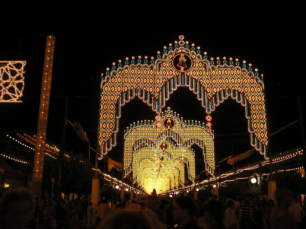 Feria de Agosto de Malaga 2006 de noche Recinto Ferial Cortijo de Torres Málaga 11