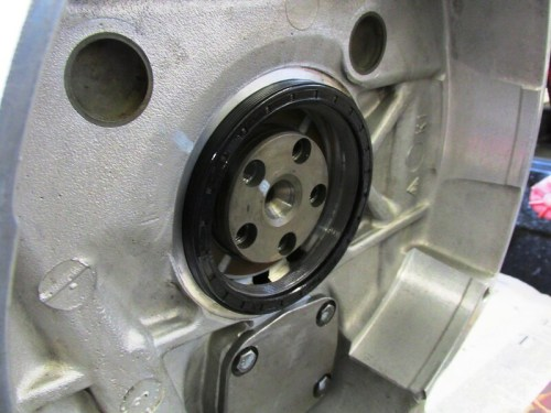Rear Main Seal Seated Evenly By Hand Around the Bore