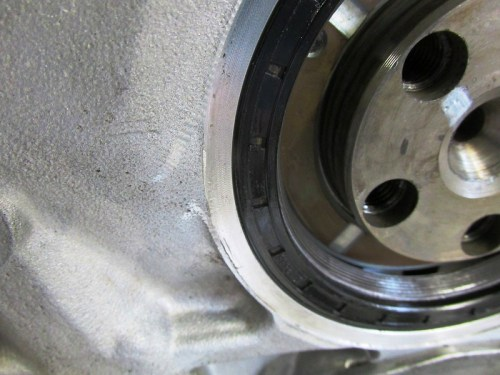 Visually Check Rear Main Seal Edge is Flush With Engine Block