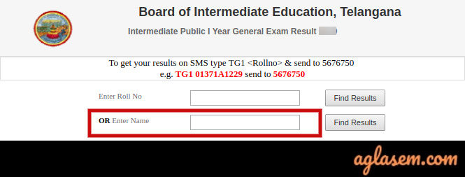 TS Inter 1st Year name-wise result