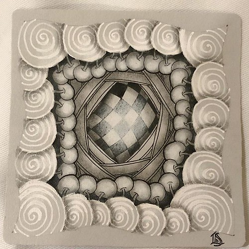 Zentangle Gray Tile