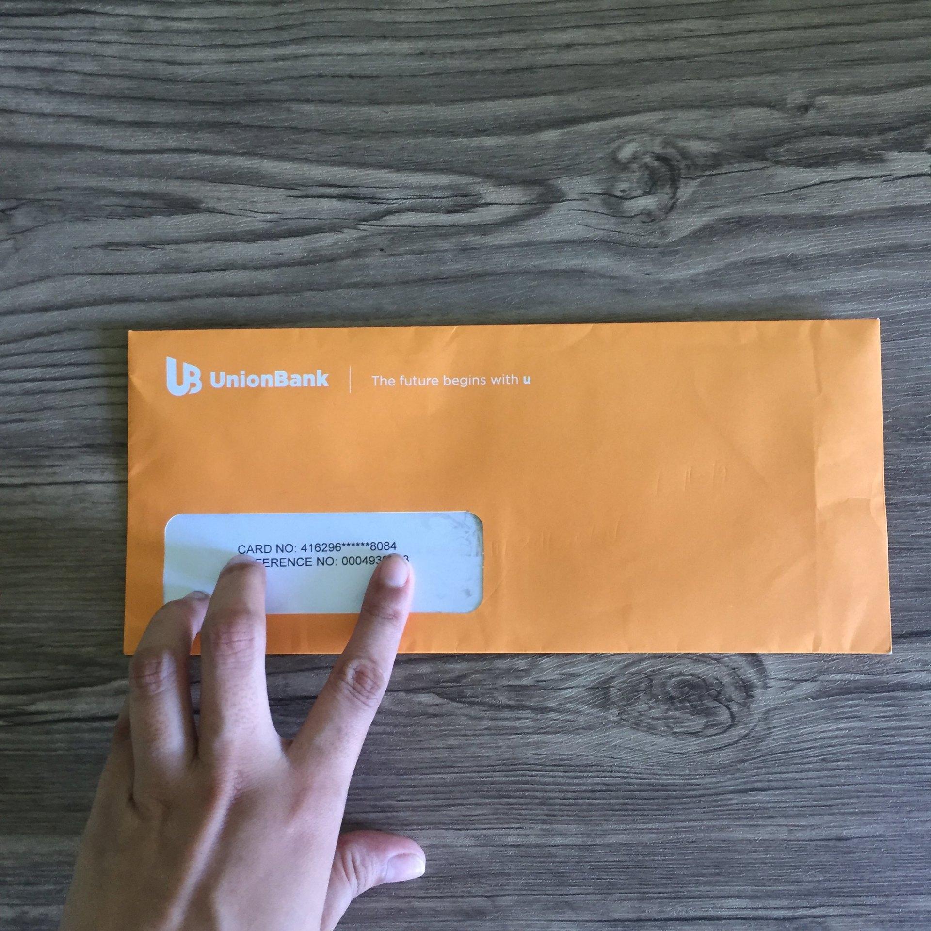 Card was delivered via Mail