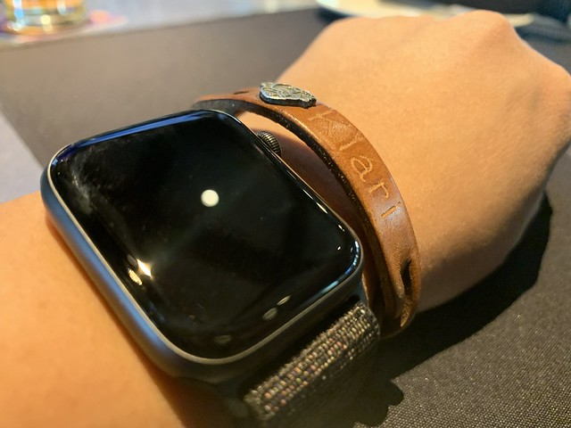 the leather bracelet is pretty old
