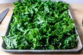 meanwhile, crisp your kale