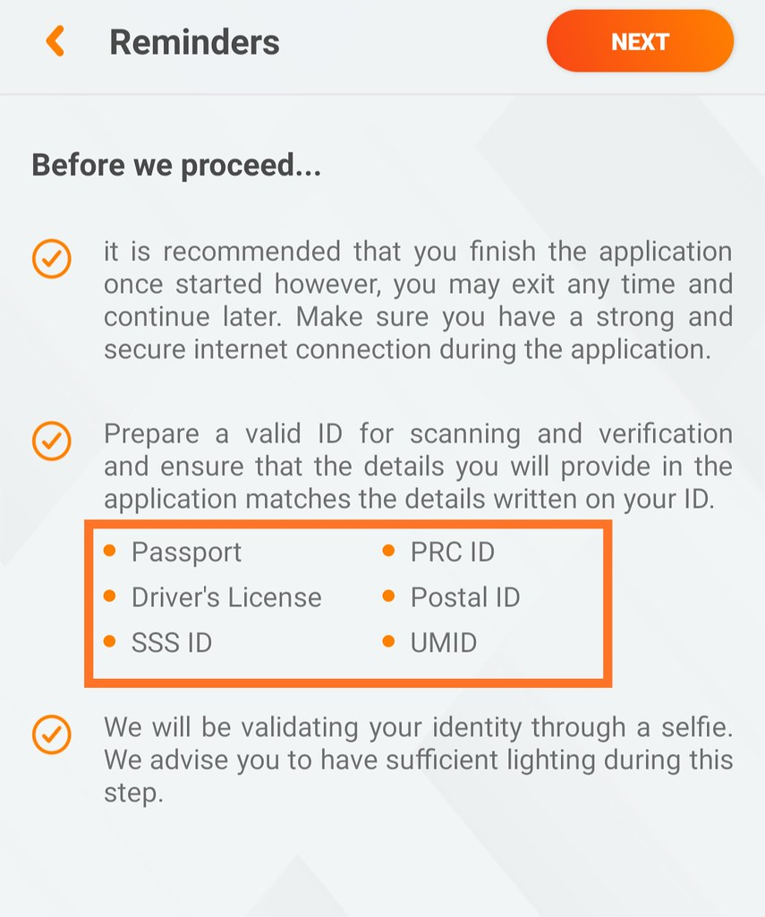ID Requirements for Opening the Savings Account