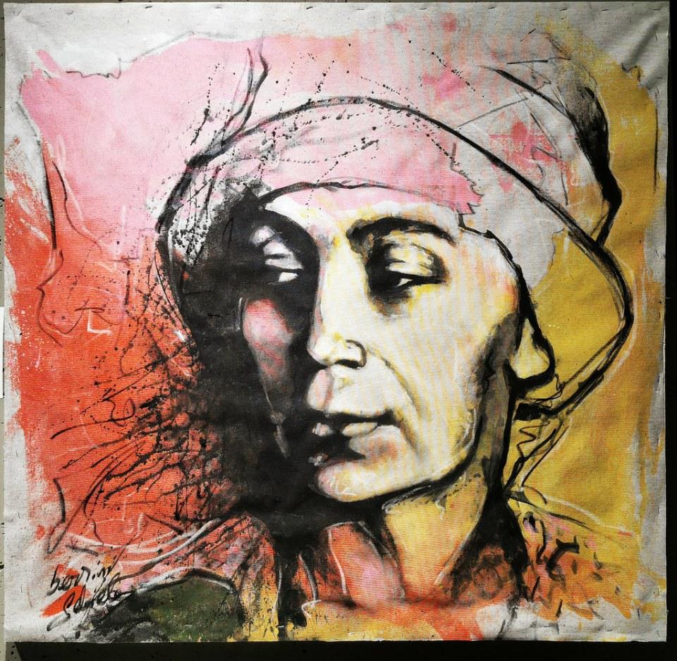 Gabriele Serrini exposición Mujeres de Arte Natalia Goncharova en el Ambito Cultural de El Corte Ingles Las Palmas de Gran Canaria