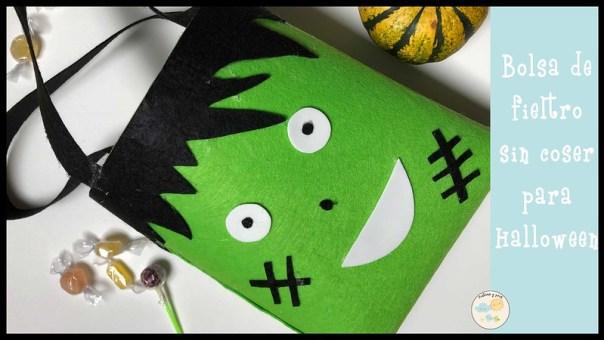 Bolsa de fieltro sin coser para Halloween