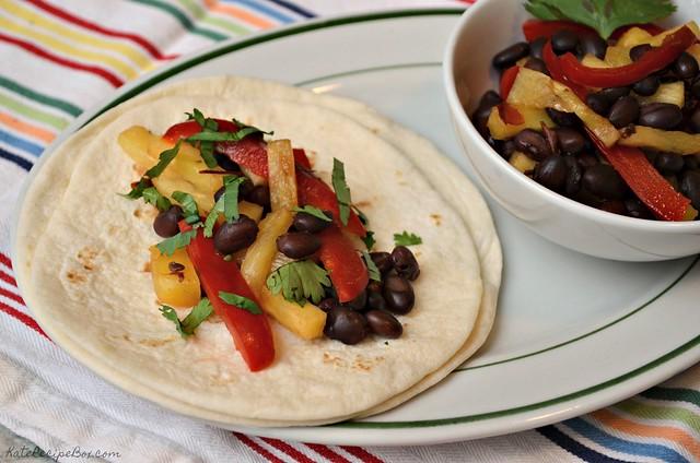 Black Bean Pineapple Tacos 1