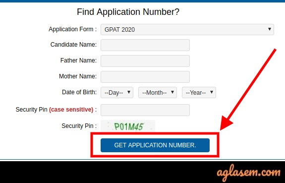 GPAT 2020 login