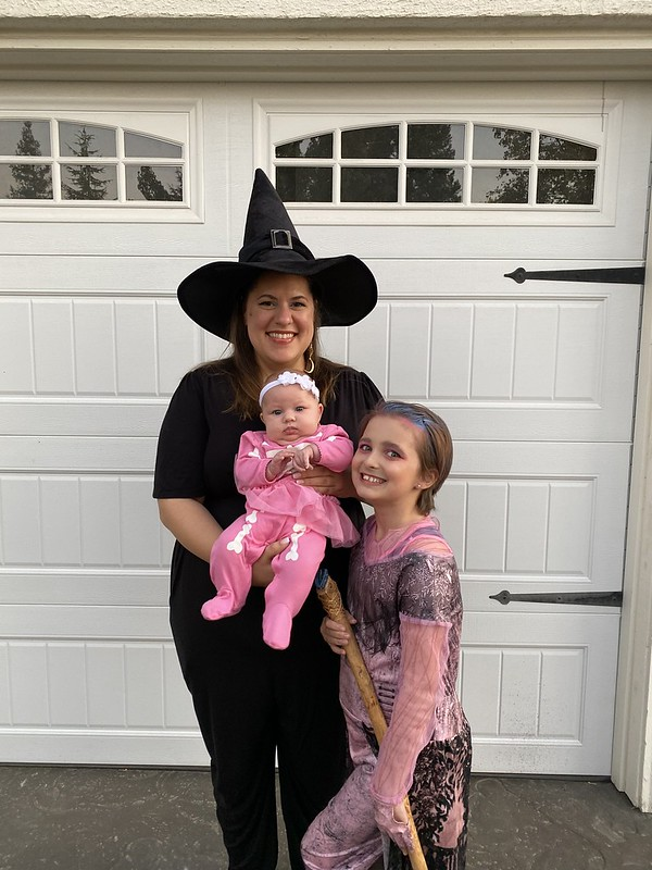 Me with my favorite girls on Halloween