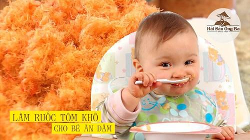 Cách làm ruốc tôm khô cho bé ăn dặm thơm ngon hấp dẫn