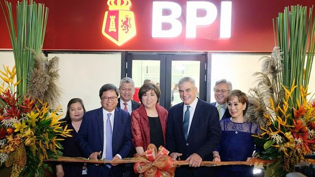 BPI Makati Main Branch Ribbon cutting