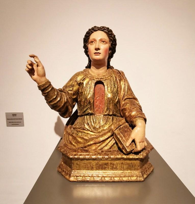 escultura busto relicario de Santa Eufemia siglo XVI Museo de la Ciudad de Antequera Malaga