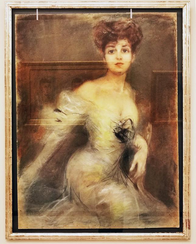 Mujer pintura contemporanea pintor Jose Maria Fernandez Museo de la Ciudad de Antequera Malaga 02