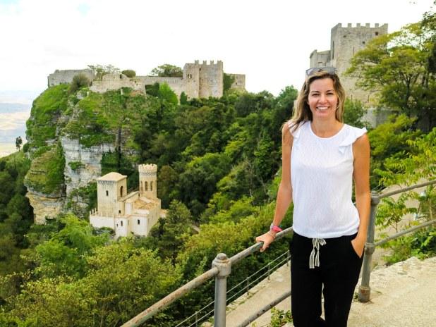 Mirador hacia el Castillo de Erice