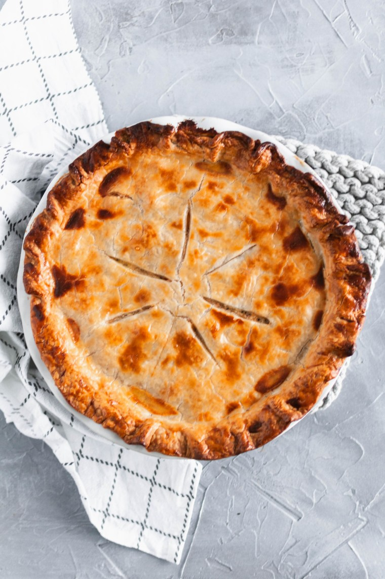 A twist on a comfort food classic, this Chicken Bacon Ranch Chicken Pot Pie will be perfect for fall. Store bought pie dough makes this doable for weeknights.
