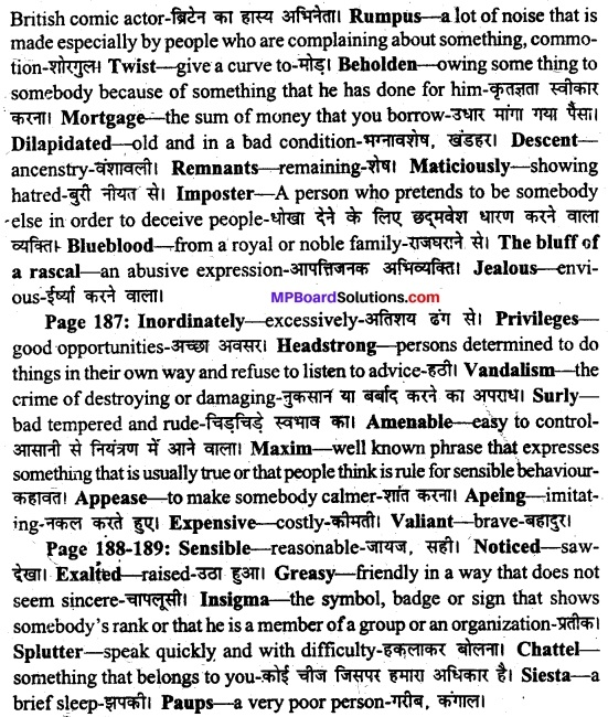 MP Board Class 11th English A Voyage Solutions Chapter 22 A Pair of Mustachios (Mulk Raj Anand) 2