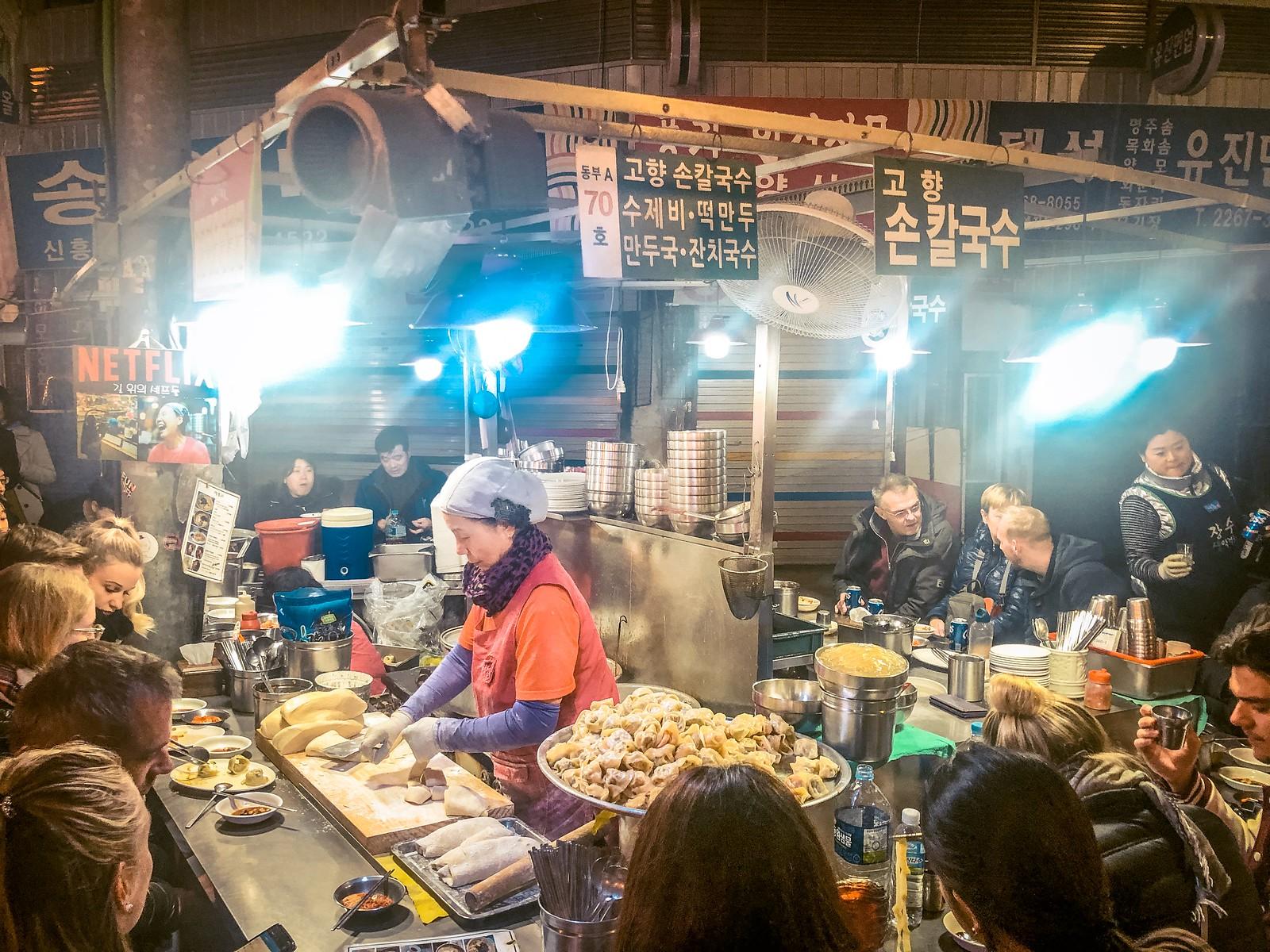 Korean street food at Gwangjang Market   Things to eat in South Korea