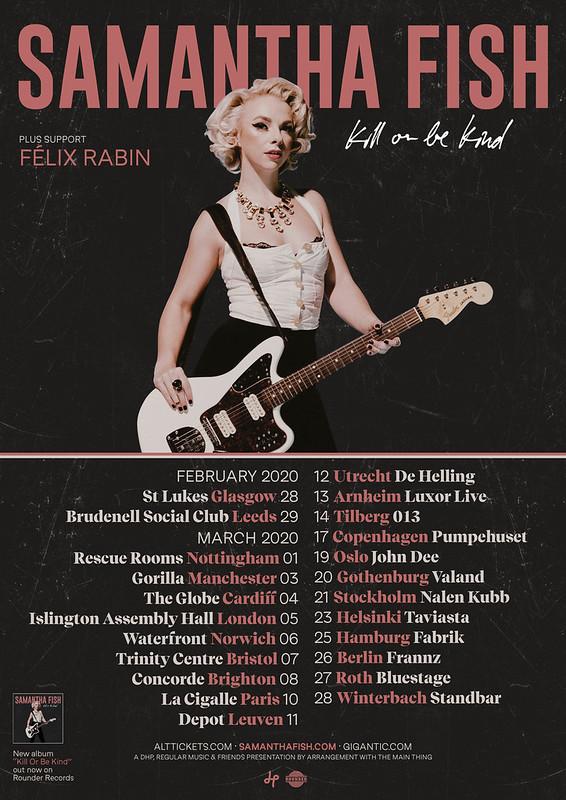 Samantha Fish 2020 UK + Euro Tour Poster
