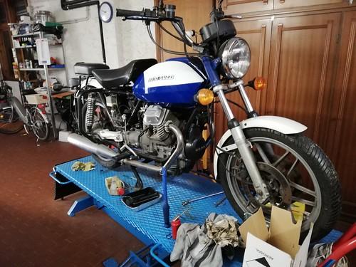 Moto Guzzi V50 PA senza bauletti e parabrezza