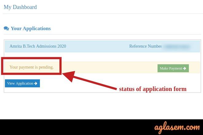 AEEE Application Form Status